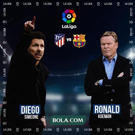 La Liga - Atletico Madrid Vs Barcelona - Head to Head Pelatih