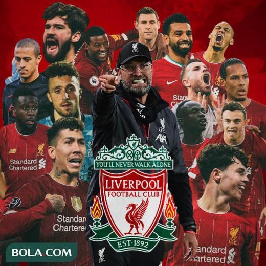 Liverpool - Ilustrasi Jurgen Klopp dan Pemain